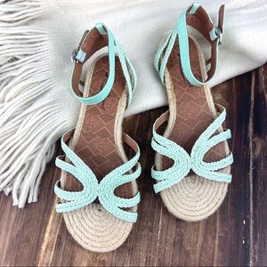 Lucky Brand NEW Espadrille Ankle Strap Sandals